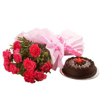 chocolate-cake-n-flowers-combo