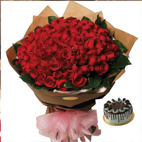 100-Roses-Basket-With-Choco