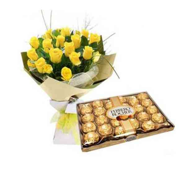 Ferrero-Rocher-With-Yellow-