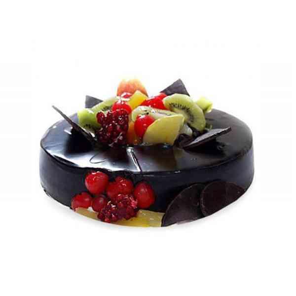 Fruit-Chocolate-Cake