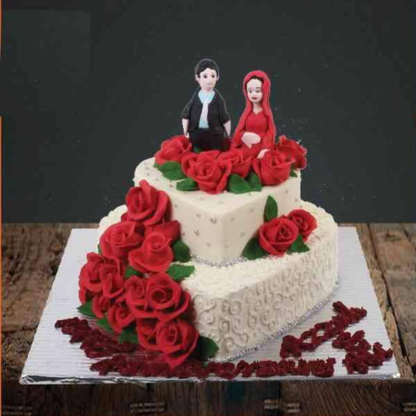 Heart-Shape-2-Tier-Cake