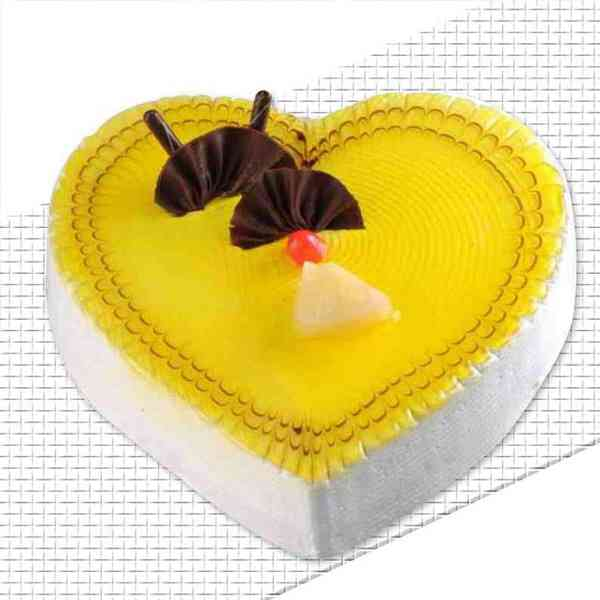 Heart-Shape-Pineapple-Cake