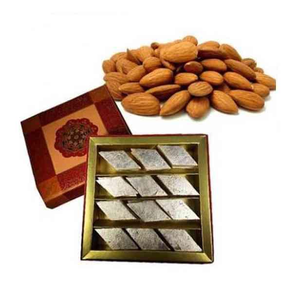 Kaju-Burfi-With-Almonds