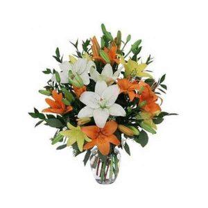 Mixed-Lily-Vase