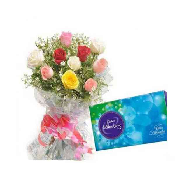 Mixed-Roses-With-Cadbury-Ce