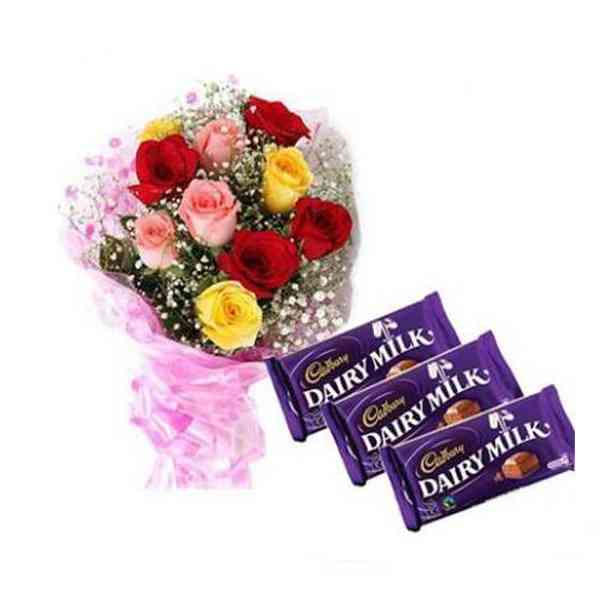 Mixed-Roses-With-Cadbury-Da