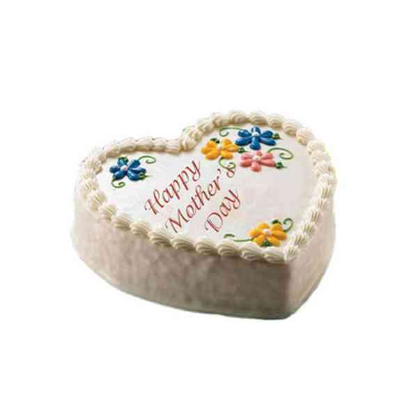 Mothers-Day-Heart-Shape-Cak