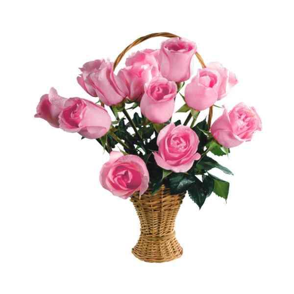 Pink-Roses-Basket