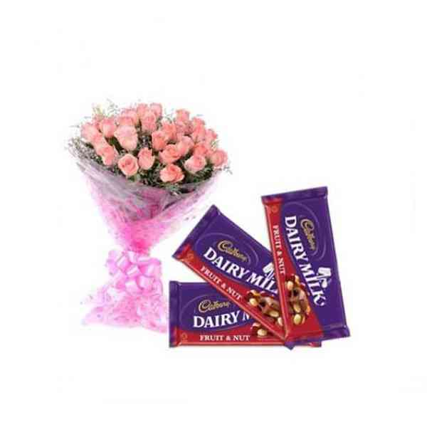 Pink-Roses-with-Cadbury-Dai
