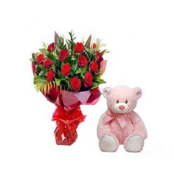 Red-Roses-With-12-Inch-Tedd