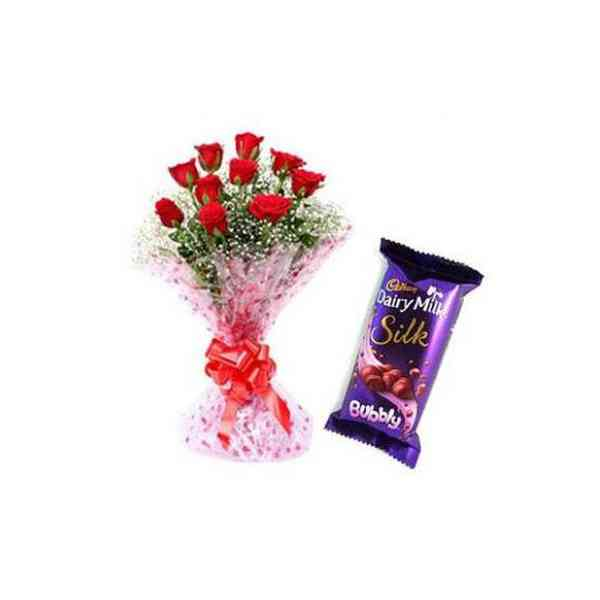 Red-Roses-With-Cadbury-Silk
