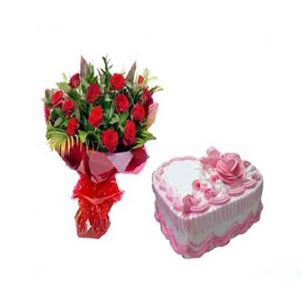 Red-Roses-With-Heart-Shape-