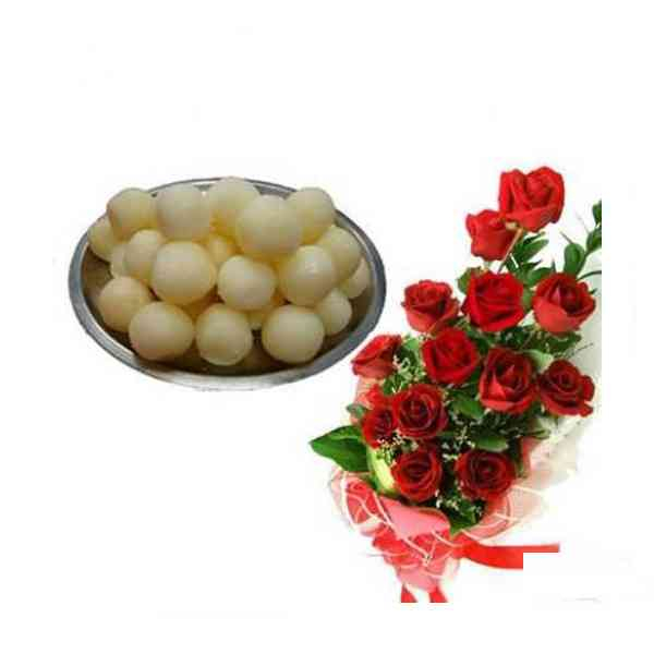 Red-Roses-With-Rasgulla