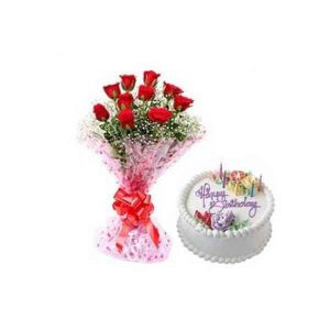 Red-Roses-With-Vanilla-Cake