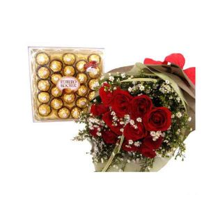 Red-Roses&Ferrero-Rocher