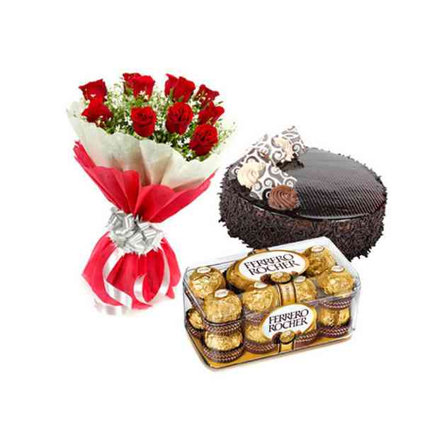Roses,-Cake-&-Ferrero-Roche