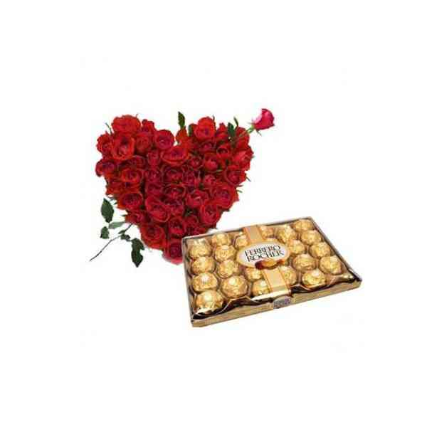 Roses-Heart-With-24-Pcs-Fer