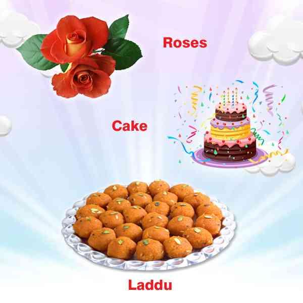 Roses-Laddu - Cake
