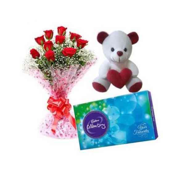 Roses,-Teddy-With-Cadbury-C
