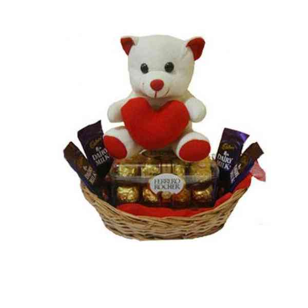 Teddy-In-Chocolate-Basket