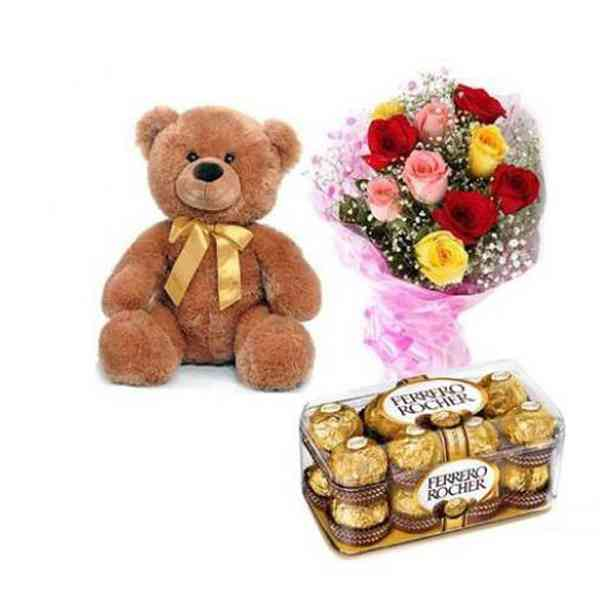 Teddy,-Mix-Roses-With-Ferre