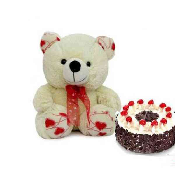 Teddy-With-Black-Forest-Cak