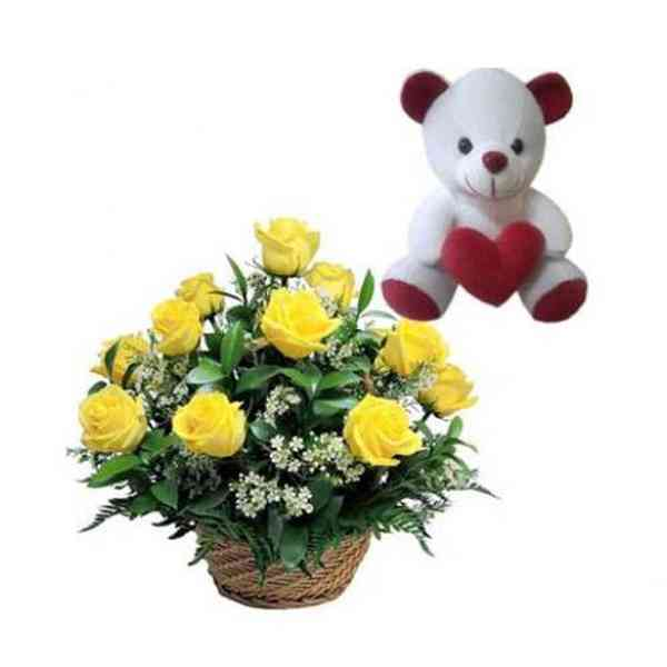 Teddy-With-Roses-Basket