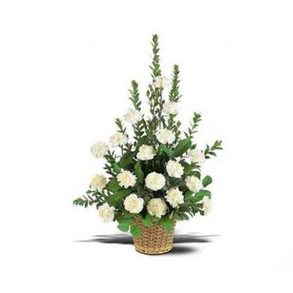 White-Carnation-Basket