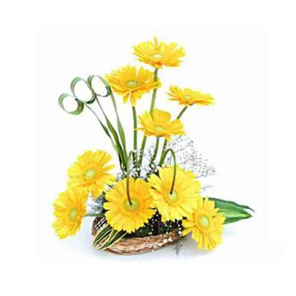 Yellow-Gerbera-Basket