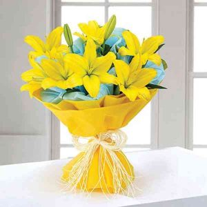 Yellow-Lilies-Bouquet