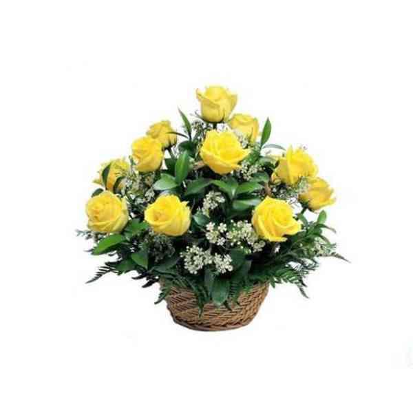 Yellow-Roses-Basket