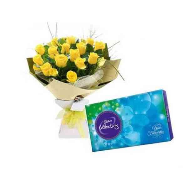 Yellow-Roses-With-Cadbury-C