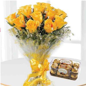 yellow-Carnations-With-Ferr